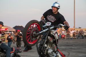 Chopper Guys CPI California Performance Iron and FXRs of California at Sacramento Speedway. Starring Jason Pullen Stunts FXR motorcycle stunt riders.